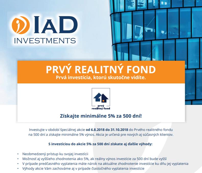 IAD Prvý realitný fond akcia